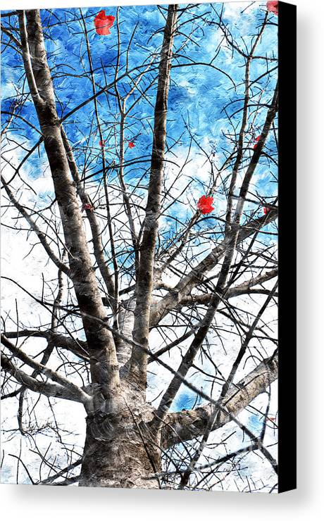 Tree Canvas Print featuring the photograph Winter Is Near by Andee Design