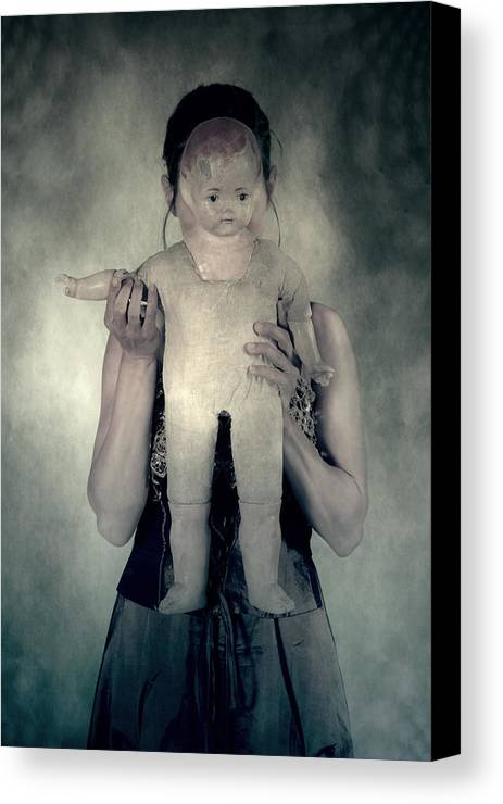 Hide Canvas Print featuring the photograph Woman With Doll by Joana Kruse