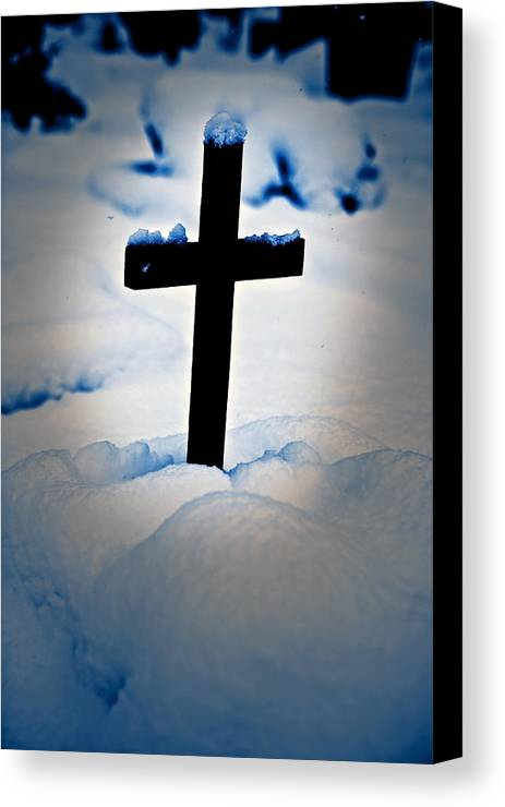 Cross Canvas Print featuring the photograph Wooden Cross by Joana Kruse