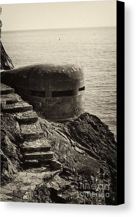 Wwii Canvas Print featuring the photograph Wwii Pill Box by Leslie Leda