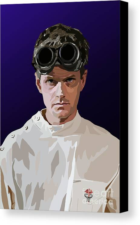 Dr Horrible Canvas Print featuring the digital art 005. Horribly Familiar by Tam Hazlewood