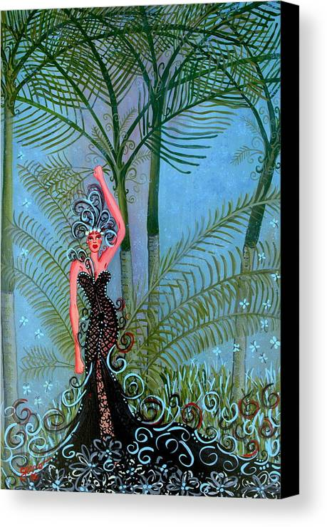 Couture Artwork Canvas Print featuring the painting Bayou Couture by Helen Gerro