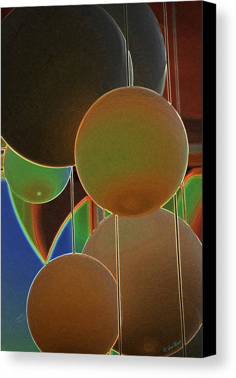 Colored Bubbles Canvas Print featuring the photograph Colored Bubbles by Robert Meanor
