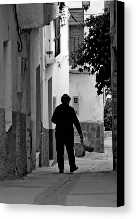 Photographer Canvas Print featuring the photograph Done The Shopping by Jez C Self