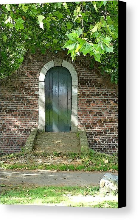 Door Canvas Print featuring the photograph Dutch Door Digital by Carol Groenen