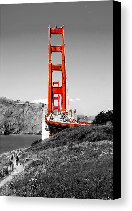 City Canvas Print featuring the photograph Golden Gate by Greg Fortier
