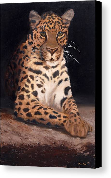 Wildlife Canvas Print featuring the painting Intrigued by Greg Neal