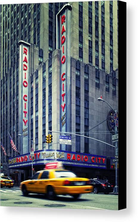 Ny Canvas Print featuring the photograph Nyc Radio City Music Hall by Nina Papiorek