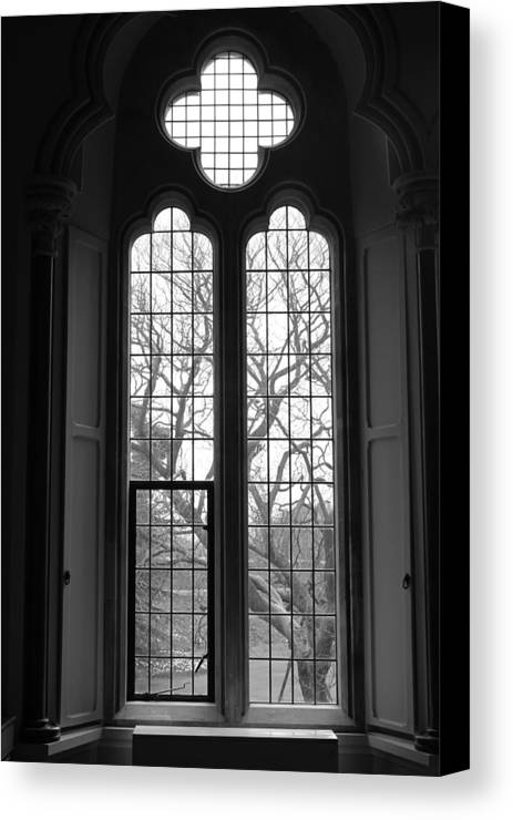 Bishop Canvas Print featuring the photograph Palace Window by Lauri Novak