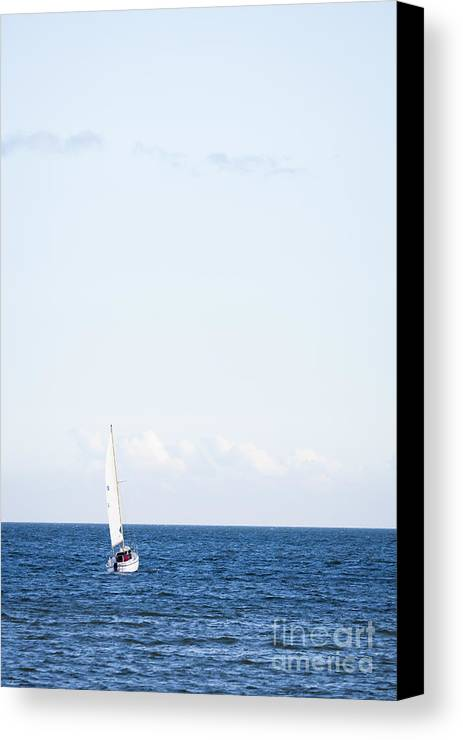 Baltic Sea Canvas Print featuring the photograph Sailing by Lasse Ansaharju