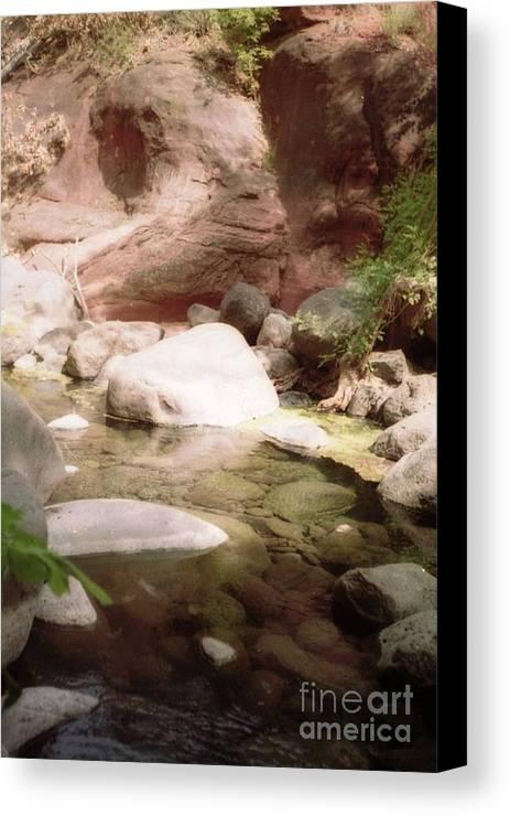 Sedona Canvas Print featuring the photograph Sedona River Rock by Ted Pollard