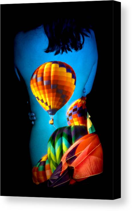 Hot Air Balloon Canvas Print featuring the photograph Soarin Beauty by Greg Fortier