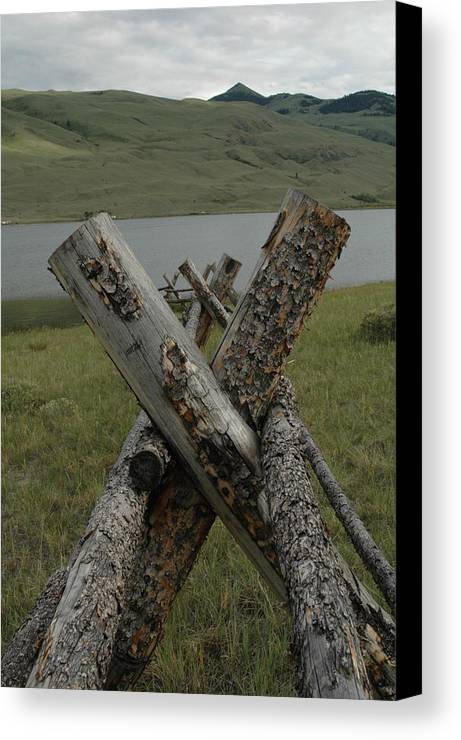Landscape Canvas Print featuring the photograph Untitled by Kathy Schumann