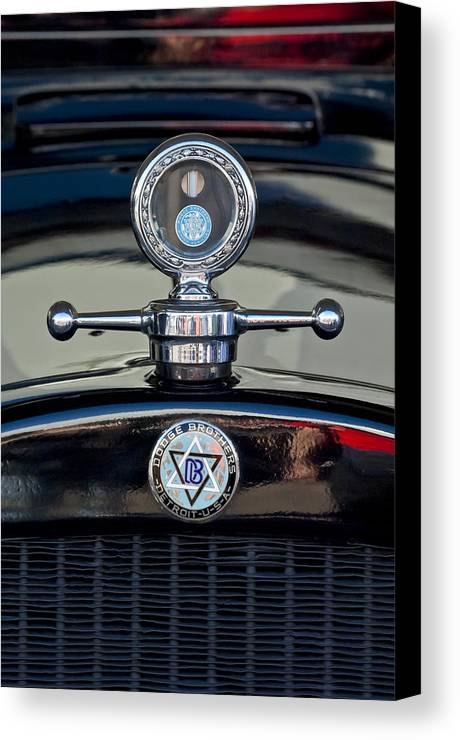 1928 Dodge Brothers Canvas Print featuring the photograph 1928 Dodge Brothers Hood Ornament by Jill Reger