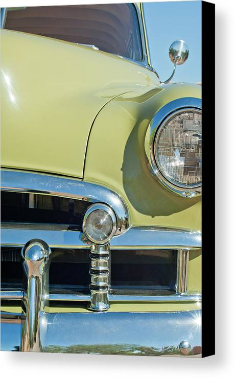 1950 Chevrolet Canvas Print featuring the photograph 1950 Chevrolet Fleetline Grille by Jill Reger