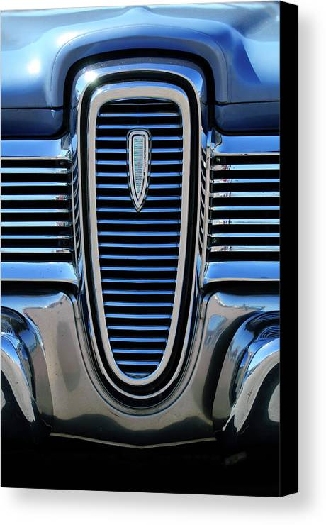 1959 Edsel Villager Canvas Print featuring the photograph 1959 Edsel Villager Grille by Jill Reger