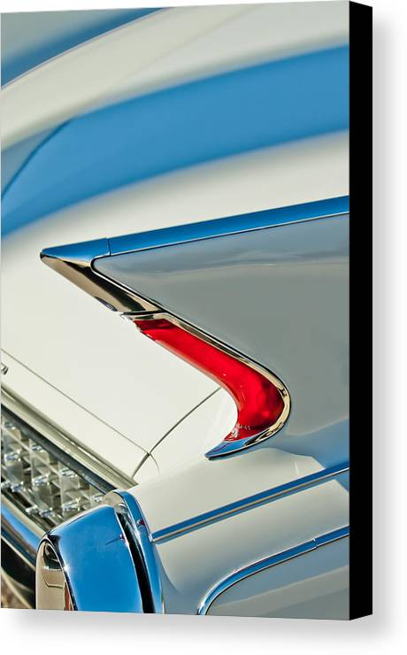 1960 Cadillac Eldorado Biarritz Canvas Print featuring the photograph 1960 Cadillac Eldorado Biarritz Convertible Taillight by Jill Reger
