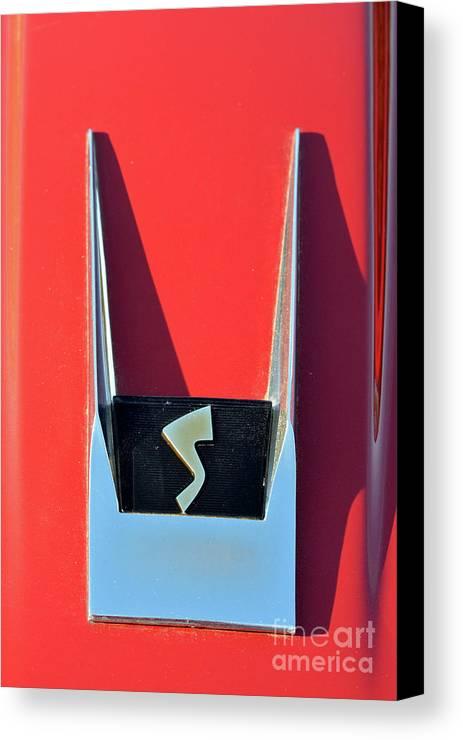 Classic Canvas Print featuring the photograph 1962 Studebaker Avanti Badge by George Atsametakis