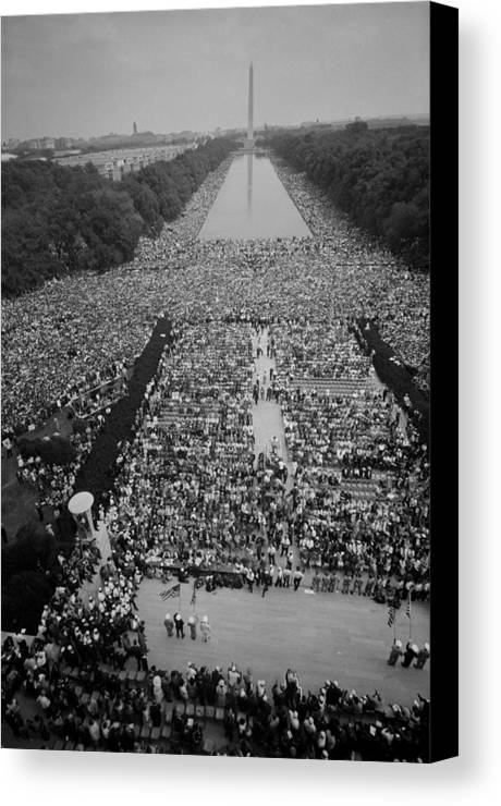 History Canvas Print featuring the photograph 1963 March On Washington, At The Height by Everett