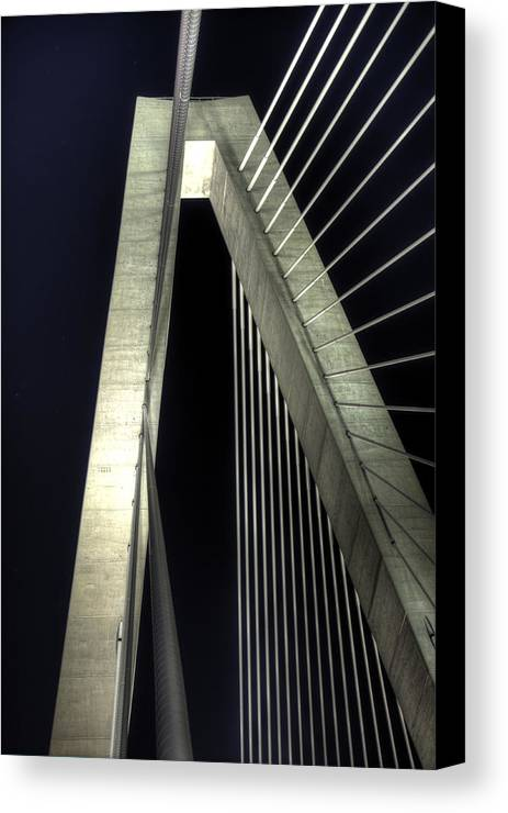 Arthur Canvas Print featuring the photograph Arthur Ravenel Jr. Bridge by Dustin K Ryan