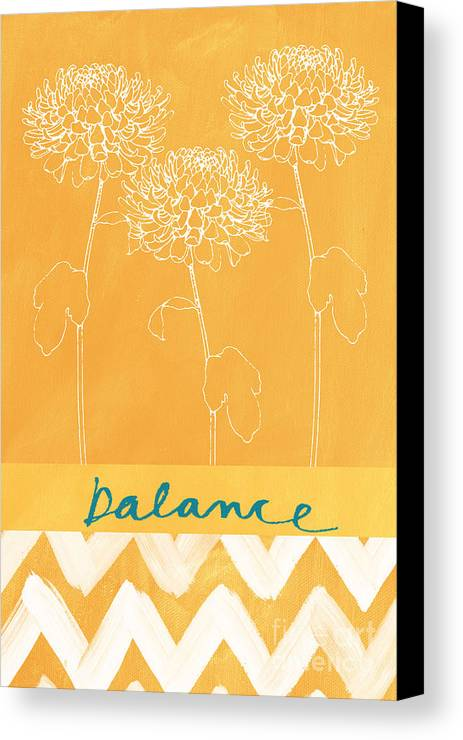 Balance Canvas Print featuring the painting Balance by Linda Woods