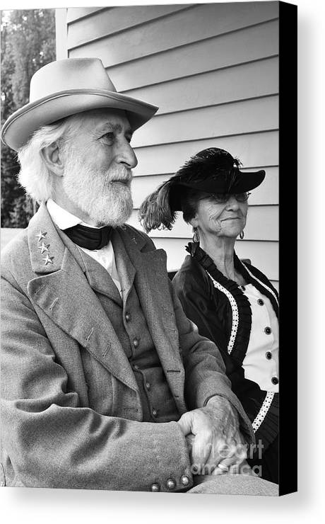 General Robert E. Lee Canvas Print featuring the photograph General Lee And Mary Custis Lee by Thomas R Fletcher