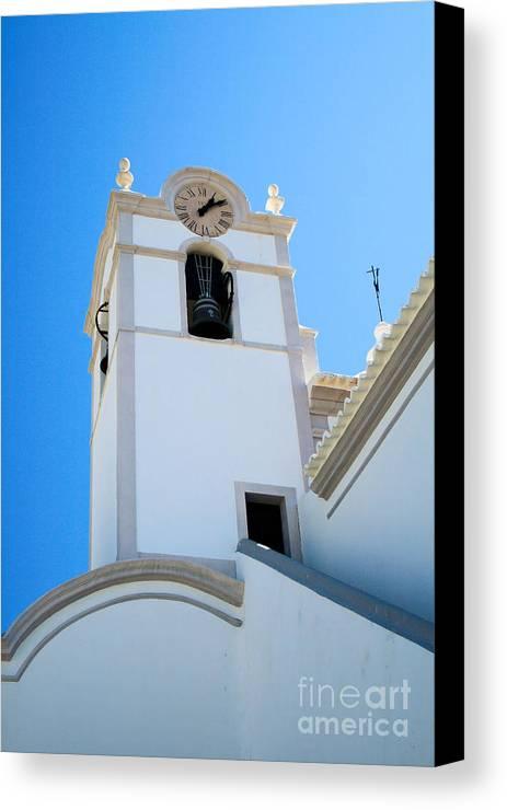 Algarve Canvas Print featuring the photograph Igreja De Sao Lourenco Dos Matos by Carl Whitfield