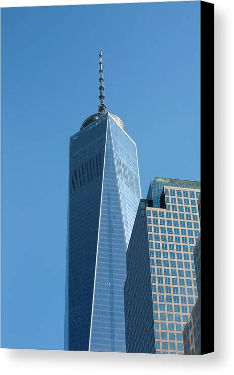 [one World Trade Centre] [freedom Tower] [new York City] Usa [united States] [united States Of America] America American City Cities Manhattan Canvas Print featuring the photograph The One World Trade Centre Or Freedom Tower New York City Usa by Michael Walters