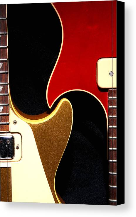 Guitar Canvas Print featuring the photograph 2lp 1 by Art Ferrier