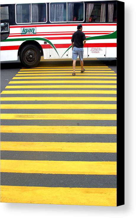 Photographer Canvas Print featuring the photograph Careful Now by Jez C Self