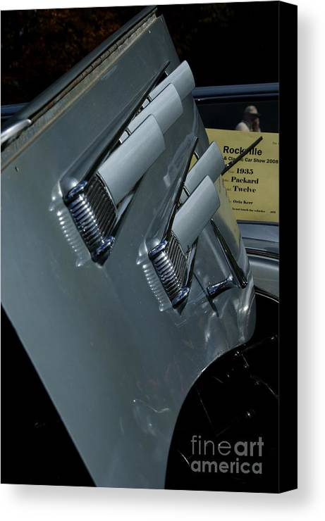 Automobile Canvas Print featuring the photograph 35 Packard by David Pettit