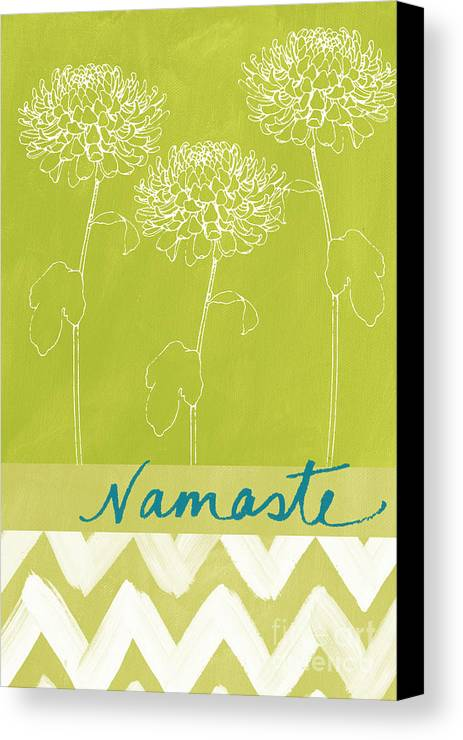 Namaste Canvas Print featuring the painting Namaste by Linda Woods