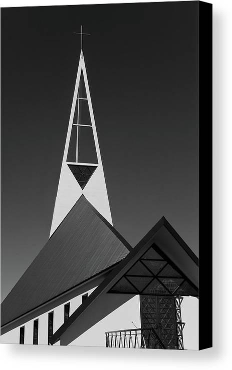 Church Canvas Print featuring the photograph Icelandic Church by Kobi Amiel