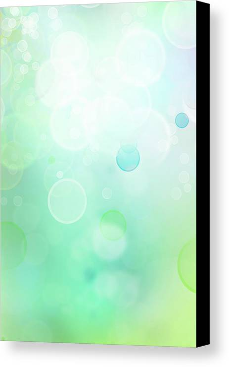 Green Canvas Print featuring the digital art Abstract Background by Les Cunliffe