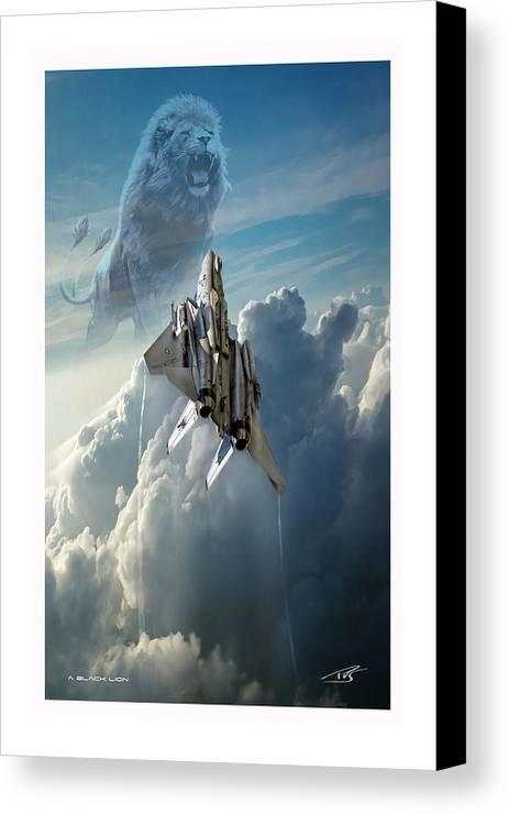 War Canvas Print featuring the digital art A Black Lion by Peter Van Stigt