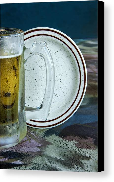 Beer Canvas Print featuring the photograph A Cold One For A Treat by Mitch Spence