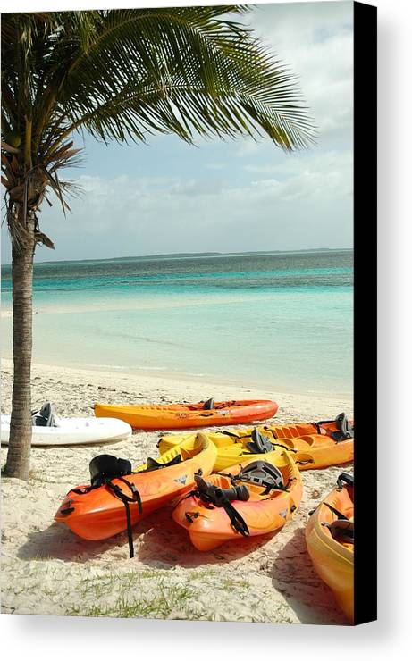Beach Canvas Print featuring the photograph A Day After Play by Lori Mellen-Pagliaro