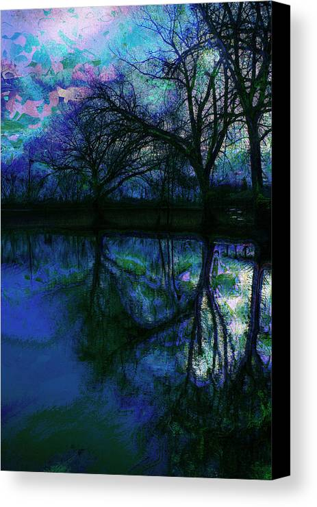 Landscape Canvas Print featuring the photograph A Monet Kinda Day by Julie Lueders