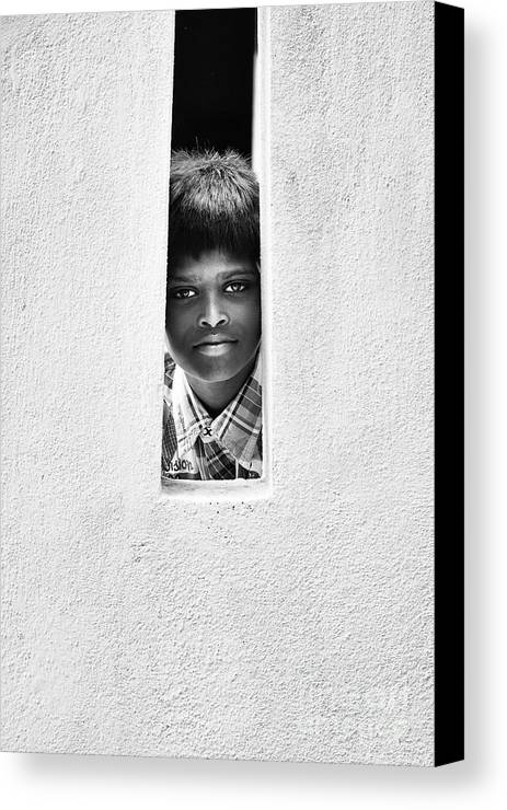 Indian Canvas Print featuring the photograph A Stare by Tim Gainey
