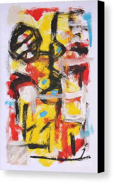 Abstract Canvas Print featuring the painting Abstract 6835 by Michael Henderson