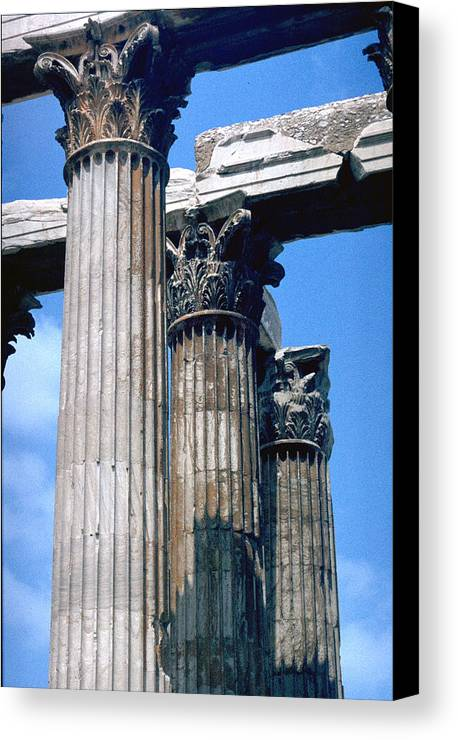 Acropolis Canvas Print featuring the photograph Acropolis by Flavia Westerwelle