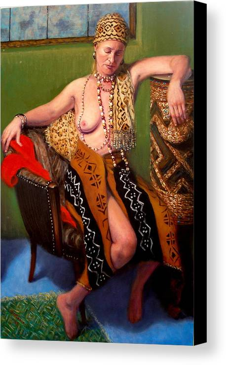Realism Canvas Print featuring the painting African Drum 4 by Donelli DiMaria