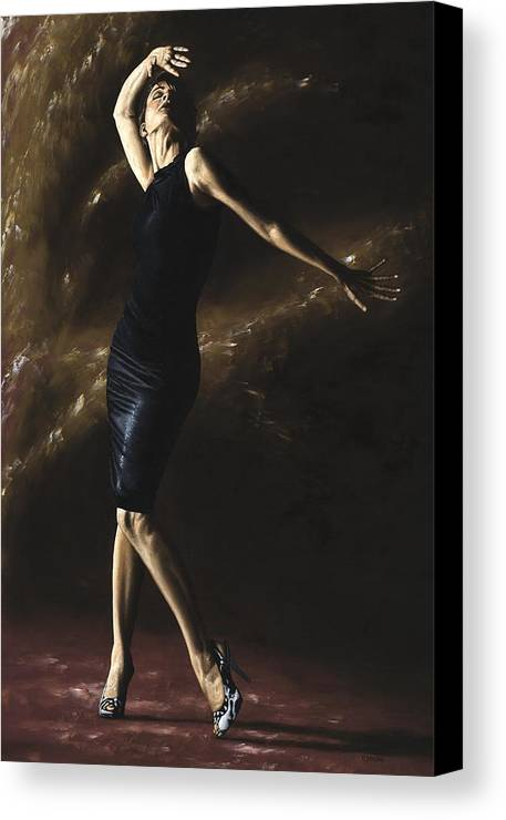 Dance Canvas Print featuring the painting After The Dance by Richard Young