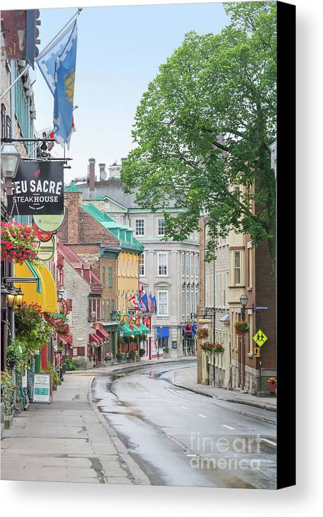 Quebec Canvas Print featuring the photograph After The Rain by Judy Tomlinson
