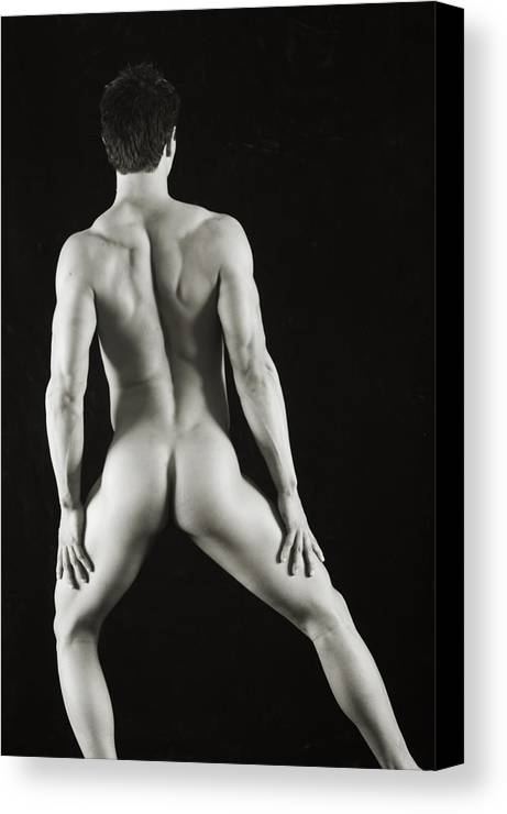 Male Nude Canvas Print featuring the photograph Alan 3 by Thomas Mitchell