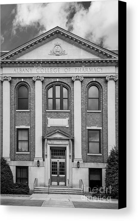 Albany Canvas Print featuring the photograph Albany College Of Pharmacy O' Brien Building by University Icons