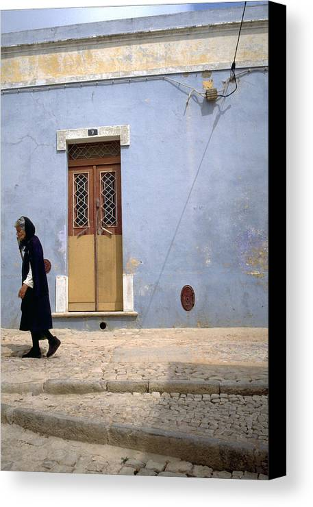 Algarve Canvas Print featuring the photograph Algarve II by Flavia Westerwelle