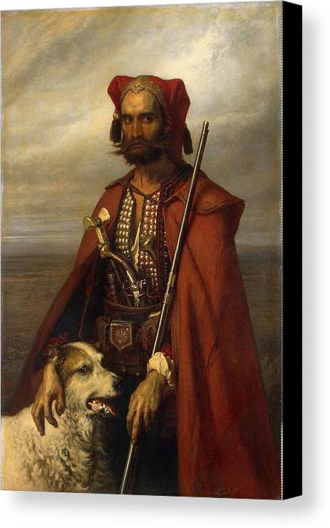 Louis Gallet - All-croat Canvas Print featuring the painting All Croat by MotionAge Designs