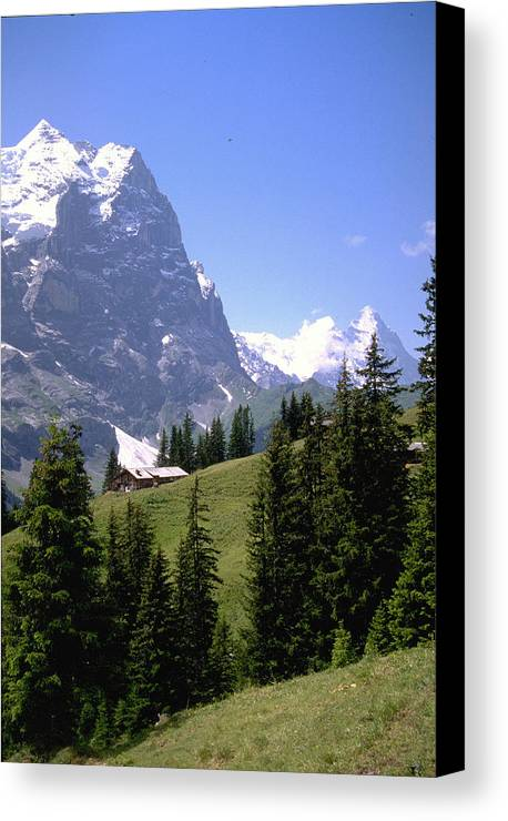 Alps Canvas Print featuring the photograph Alps by Flavia Westerwelle