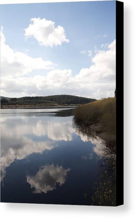 Reservoirs Canvas Print featuring the photograph Alwen Reservoir by Christopher Rowlands